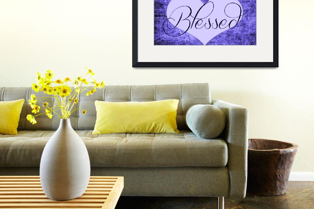 """""""blessed heart purples&quot  by lizmix"""