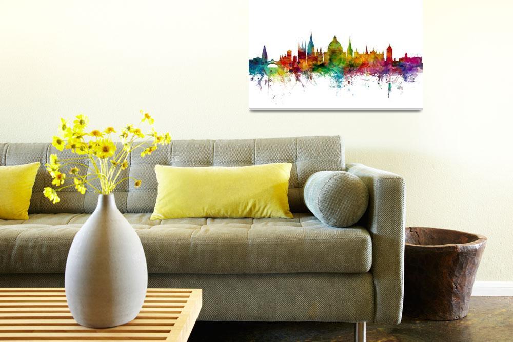 """Oxford England Skyline""  by ModernArtPrints"