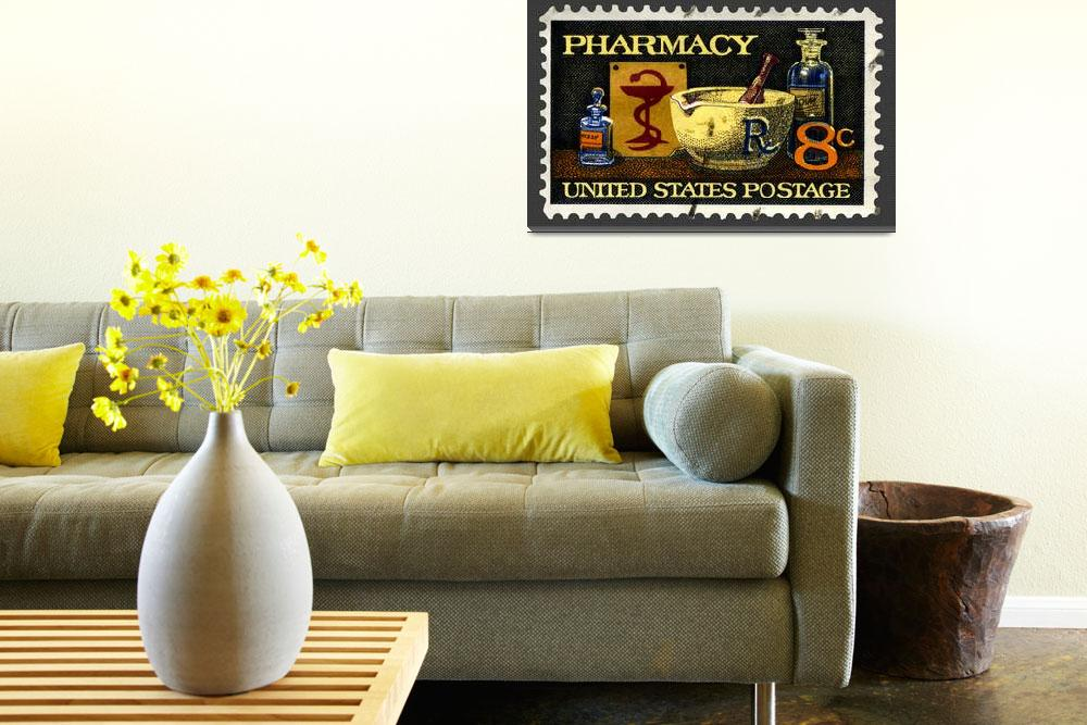 """Pharmacy Stamp&quot  (2008) by WilshireImages"
