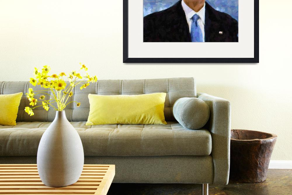 """Abstract Portrait of President Barack Obama 30x30&quot  by motionage"