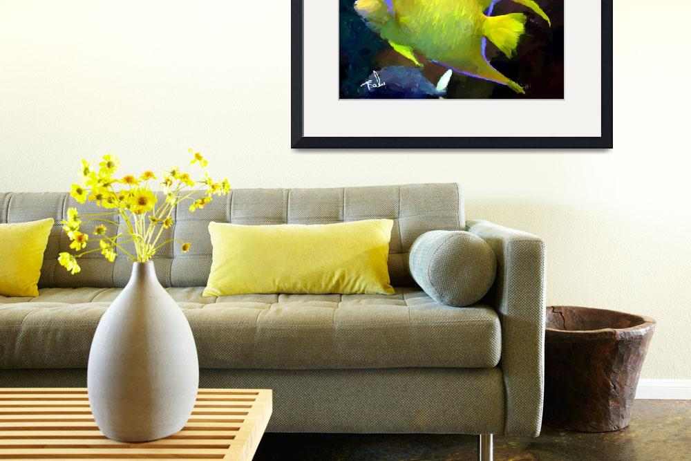 """""""Tropical yellow fish&quot  by ArtbySachse"""