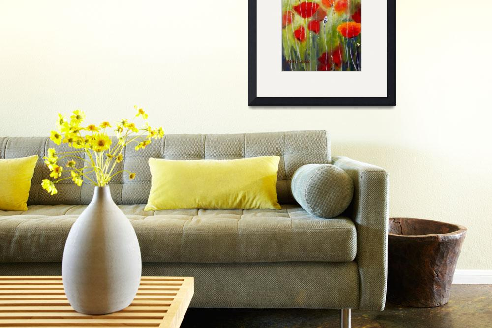 """""""Delicate Poppies&quot  (2010) by art-miri"""