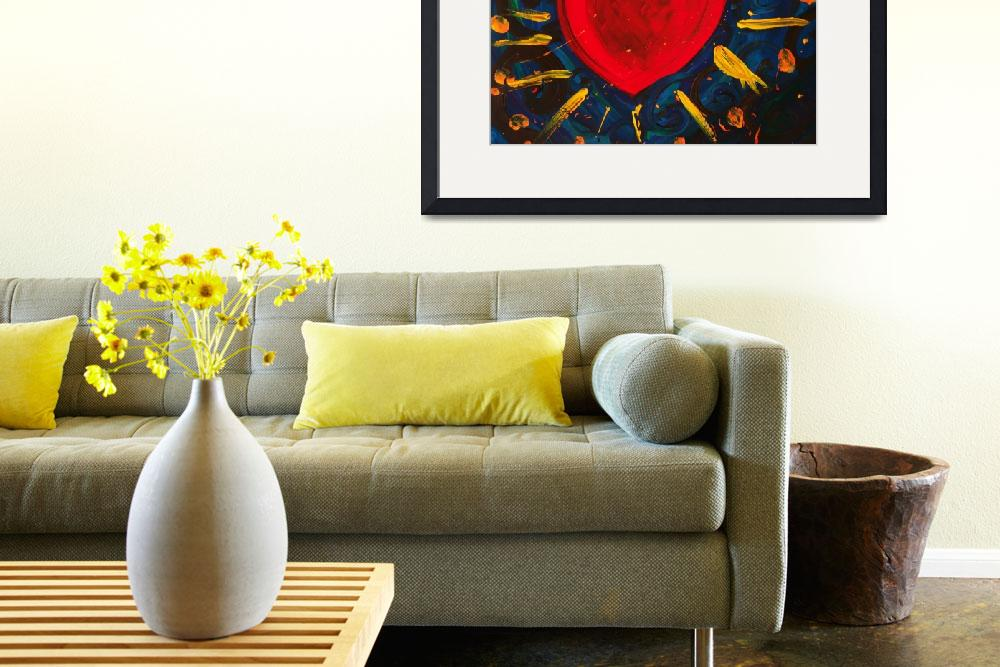 """""""Red Heart with Gold Love""""  by SageRose"""