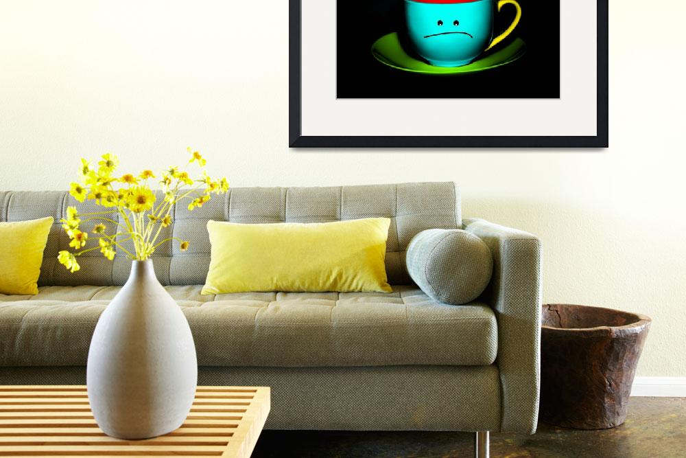 """Funny Wall Art - Peeved Colourful Teacup""  by NatalieKinnear"