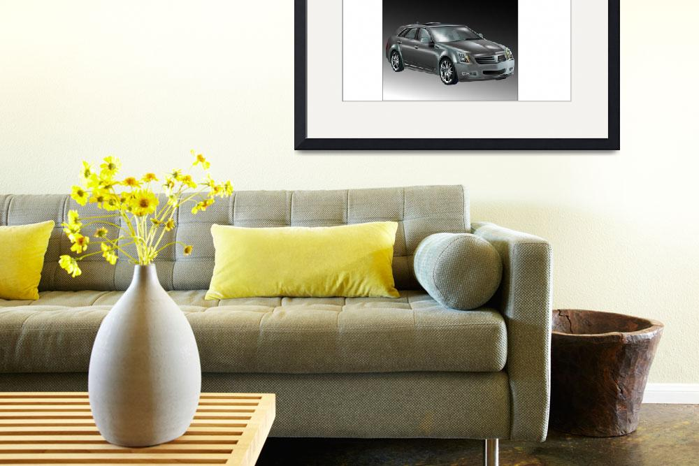 """Cadillac CTS Sports Wagon""  (2008) by LAArtworks"
