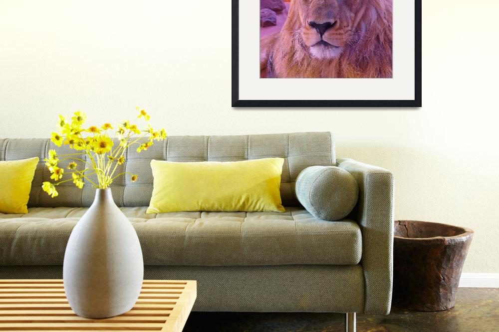 """""""lion face&quot  (2013) by gallerymay"""
