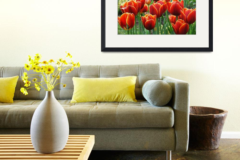 """""""Spring Tulips&quot  (2015) by LynnBauer"""