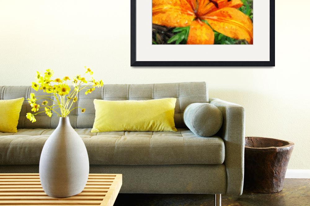 """""""Orange Lily After The Rain""""  (2008) by visuality"""