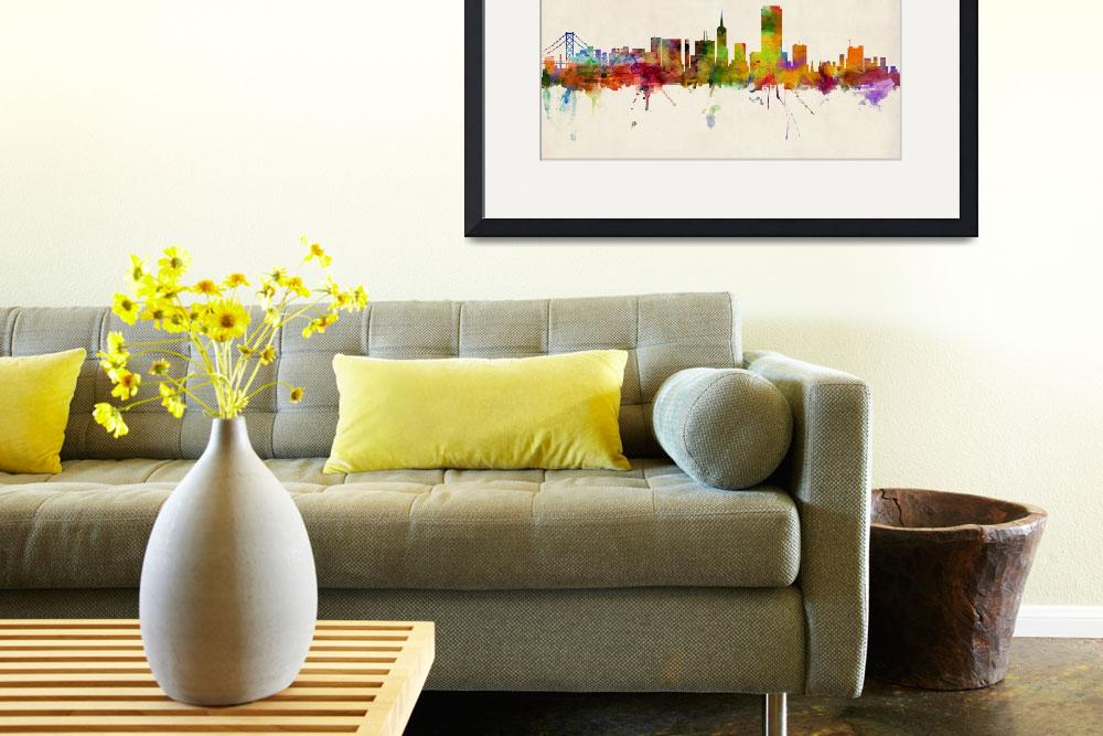 """San Francisco City Skyline&quot  (2013) by ModernArtPrints"