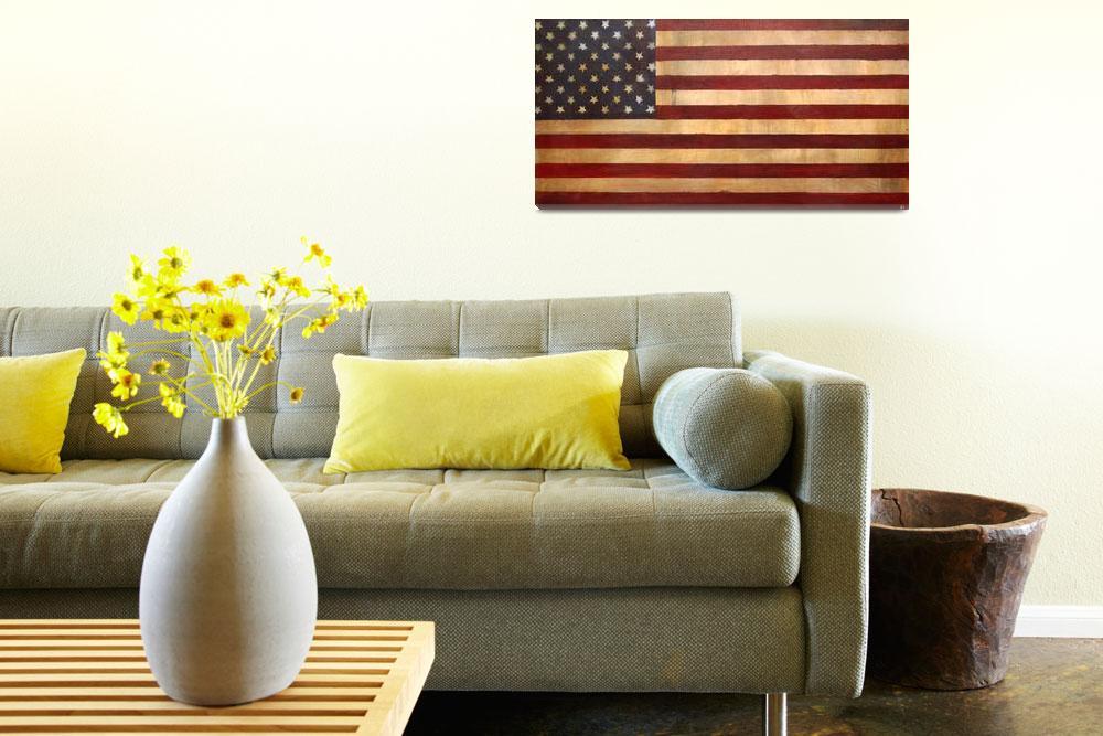 """Vintage American Flag #1""  (2009) by AV"