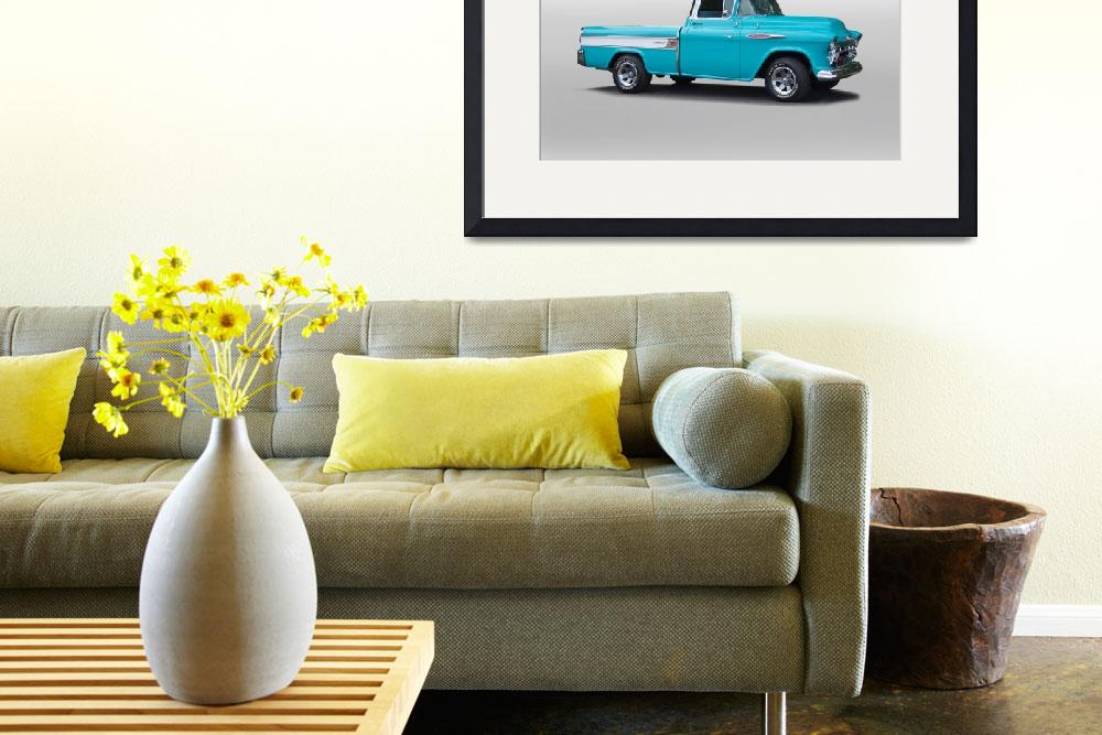 """""""1957 Chevrolet 3124 Cameo Pickup I&quot  by FatKatPhotography"""