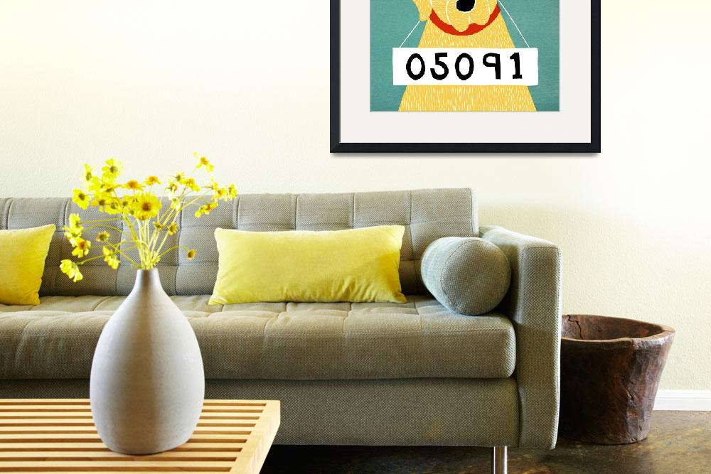 """Bad Dog 05091 Yellow""  by artlicensing"