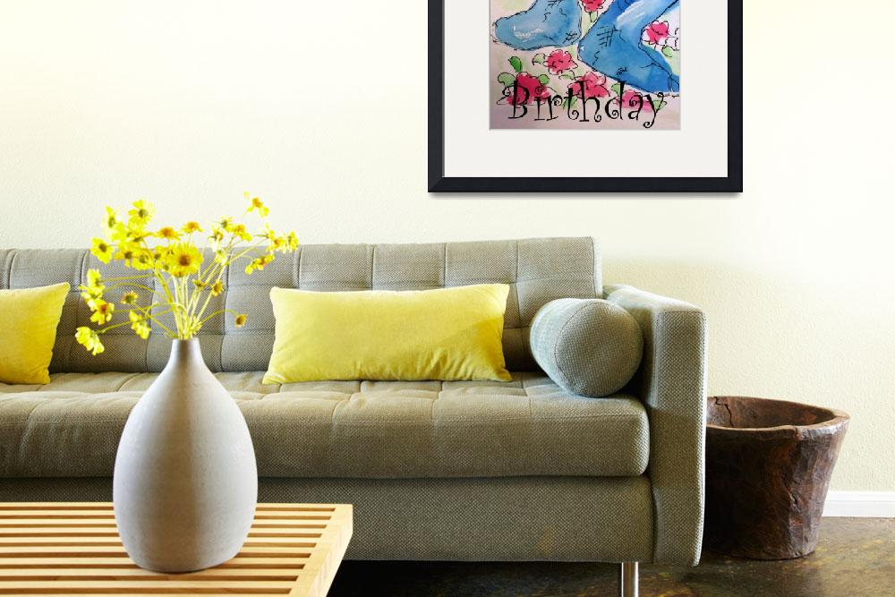 """""""Happy Birthday, Find Your Home Painting&quot  by artbyclaire"""