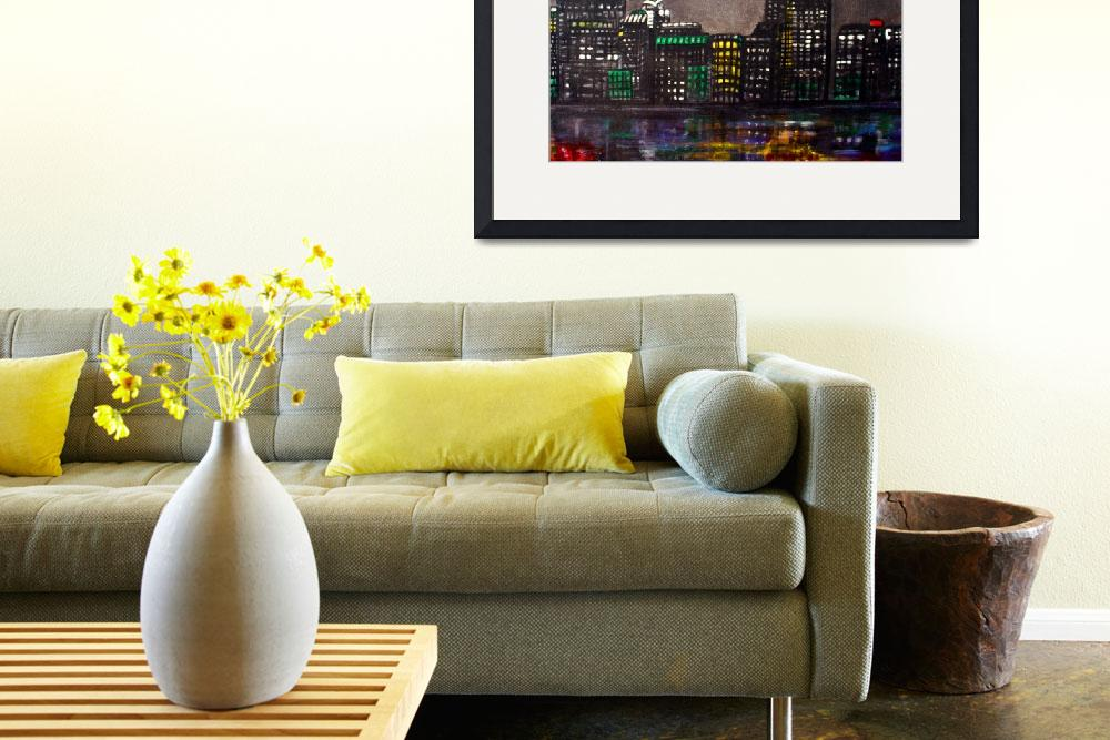 """New York Skyline""  (2009) by ArtPrints"