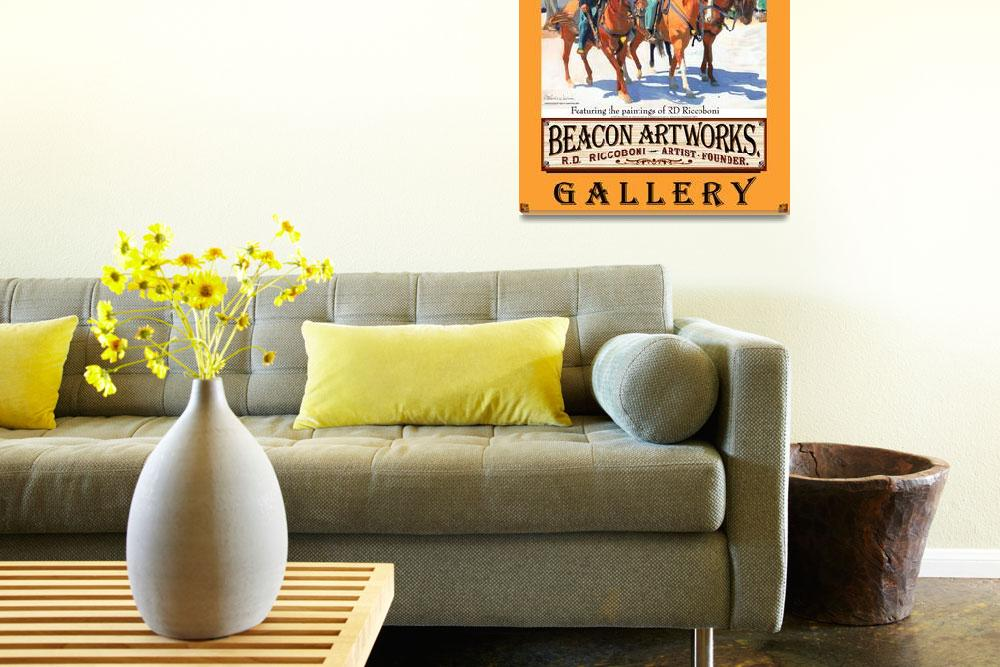 """Beacon Artworks Gallery Riccoboni Poster&quot  (2008) by RDRiccoboni"