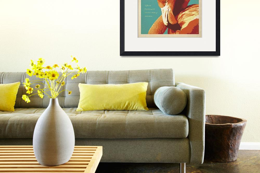 """""""Flamingo Lounge Retro Poster""""  by artlicensing"""