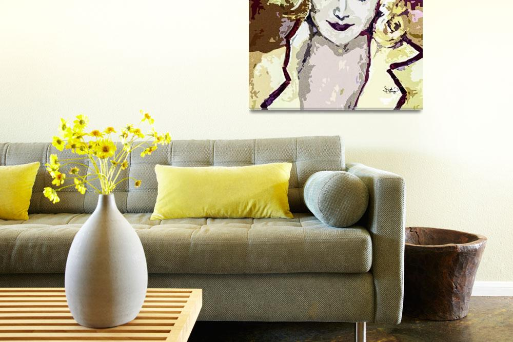 """Abstract Carol Lombard""  (2013) by GinetteCallaway"