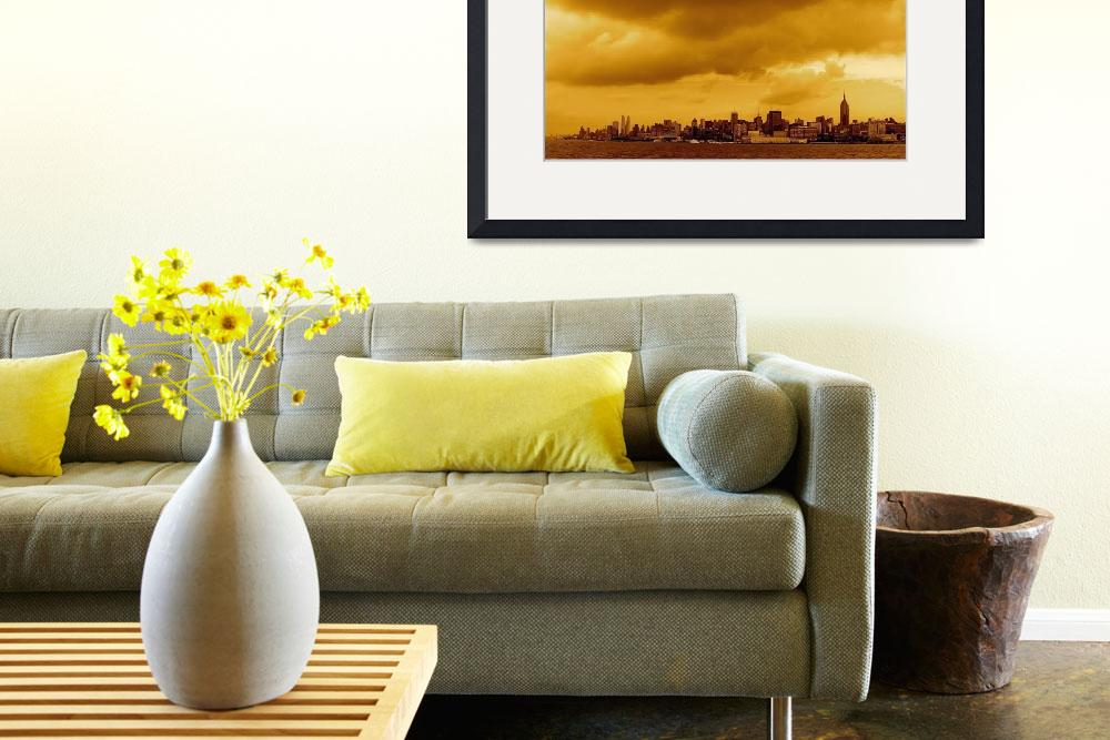 """""""New York City in Amber""""  (2010) by robvena"""
