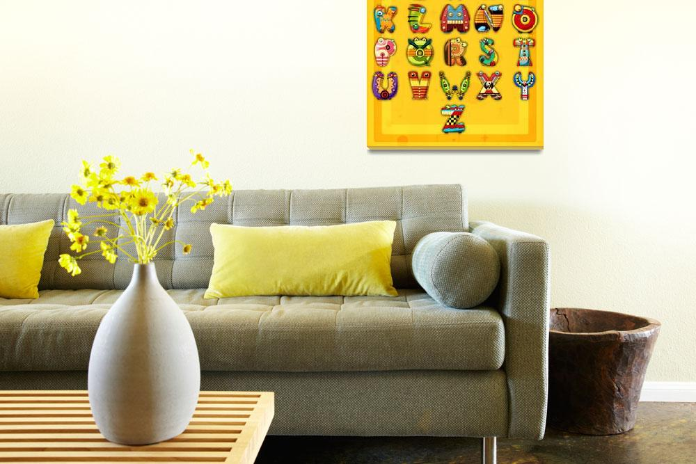 """""""Super Alphabet Poster (With background)""""  (2011) by MikeCressy"""
