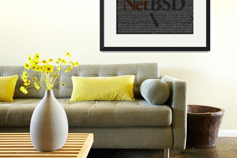 """NetBSD Source Poster""  (2010) by 0xfe"