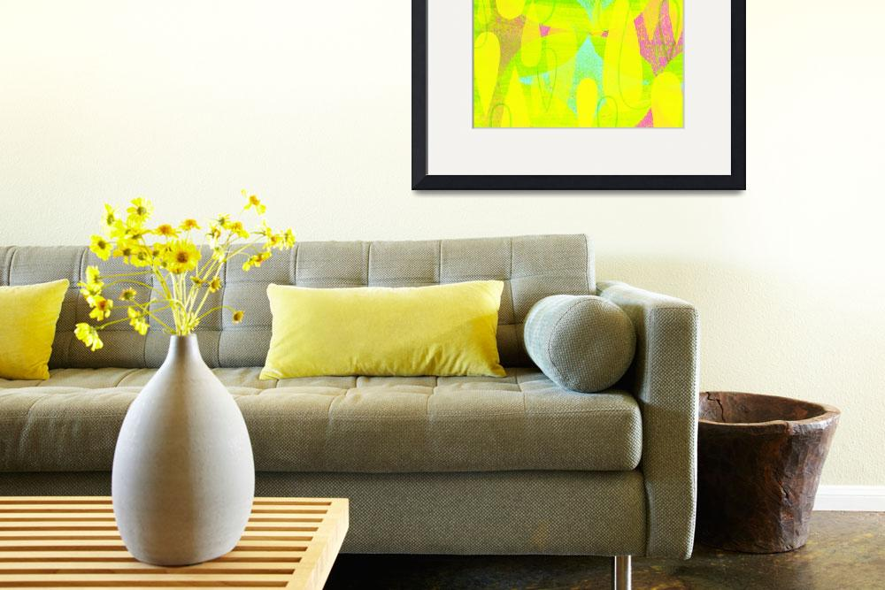 """""""Mid Century Modern Print - Yellow and Pink&quot  (2012) by jpprintparlor"""