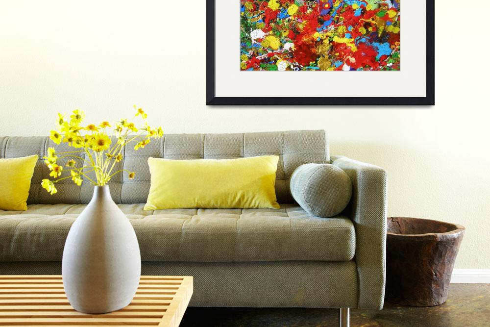 """""""abstract - HAPPY PLACE&quot  (2009) by dawnsebaugh"""