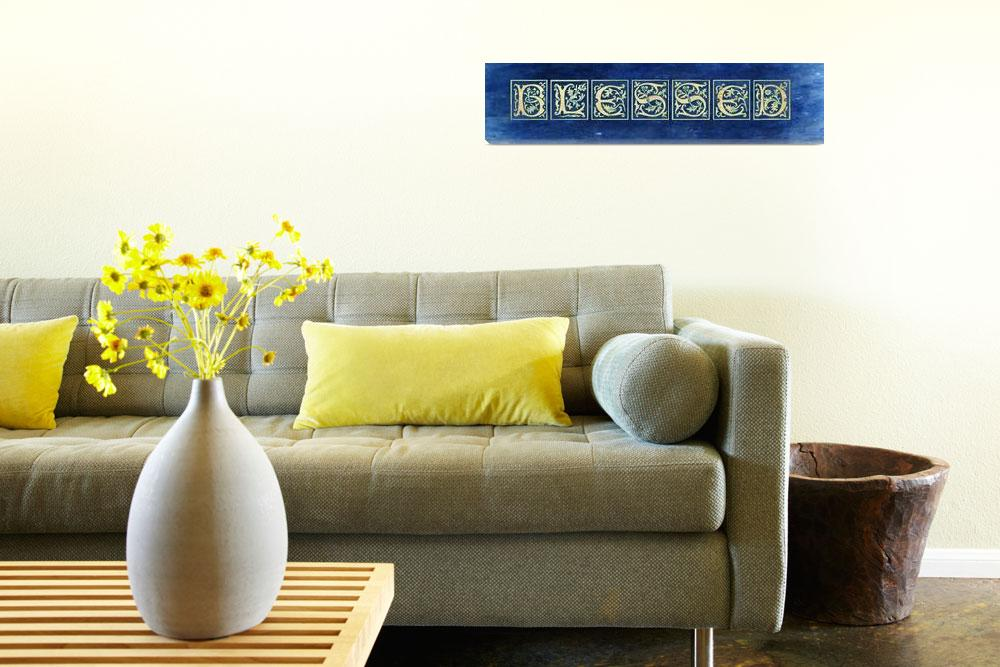 """""""blessed style blocks blue vintage""""  by lizmix"""