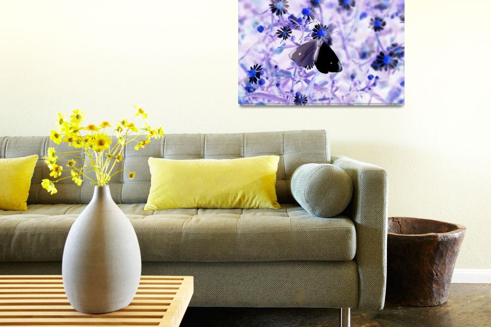"""Moth on Flower Artistic""  (2010) by Tallulah"