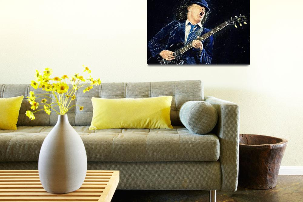 """""""Angus Young""""  (2018) by taylansoyturk"""