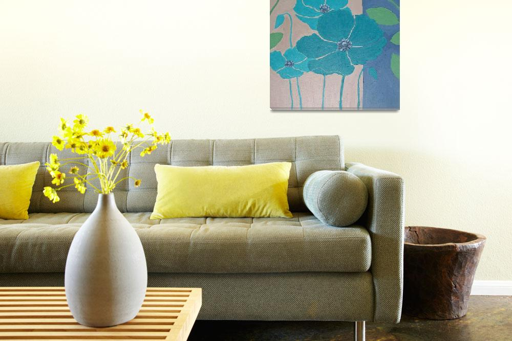 """""""Contemporary Floral&quot  (2011) by arteest"""