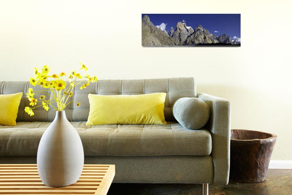 """""""Trango Towers Panorama""""  (2006) by chrisjoint"""
