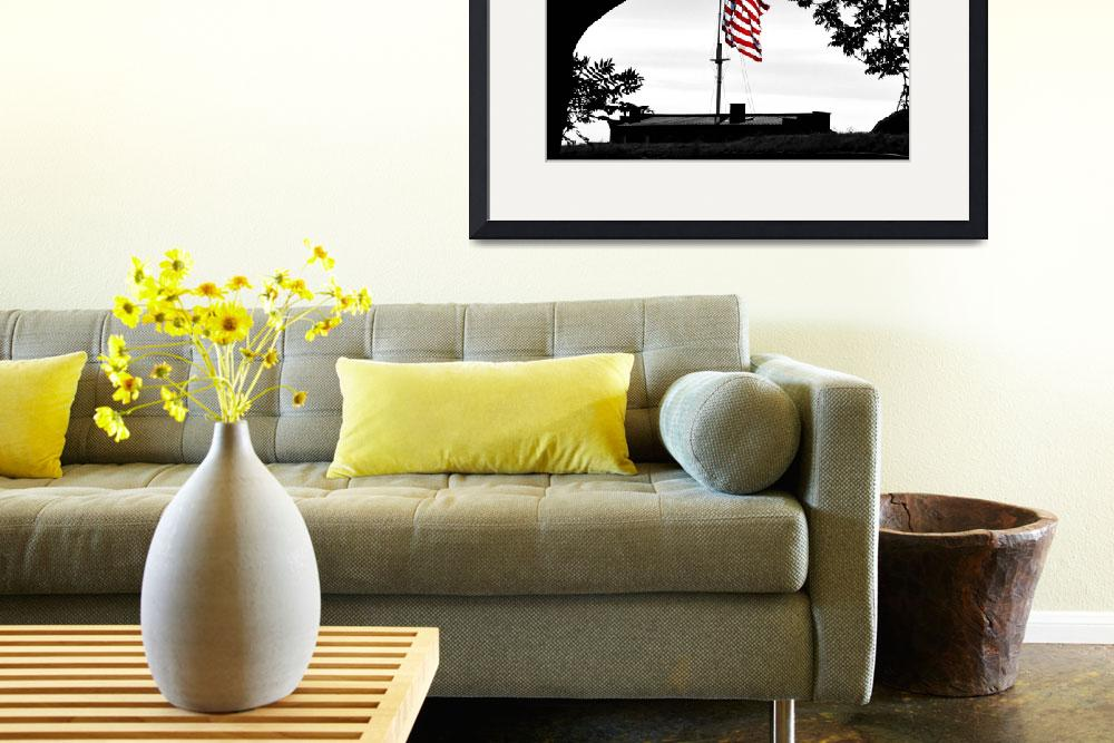 """""""A Flag Among the Trees at Fort McHenry&quot  by travel"""