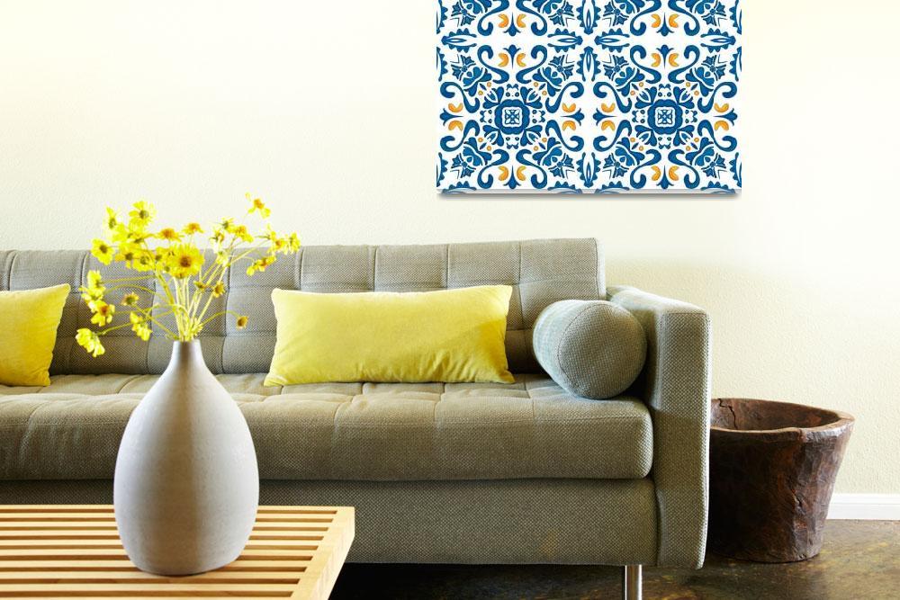 """""""Portuguese tiles&quot  (2013) by HelloLittleBird"""