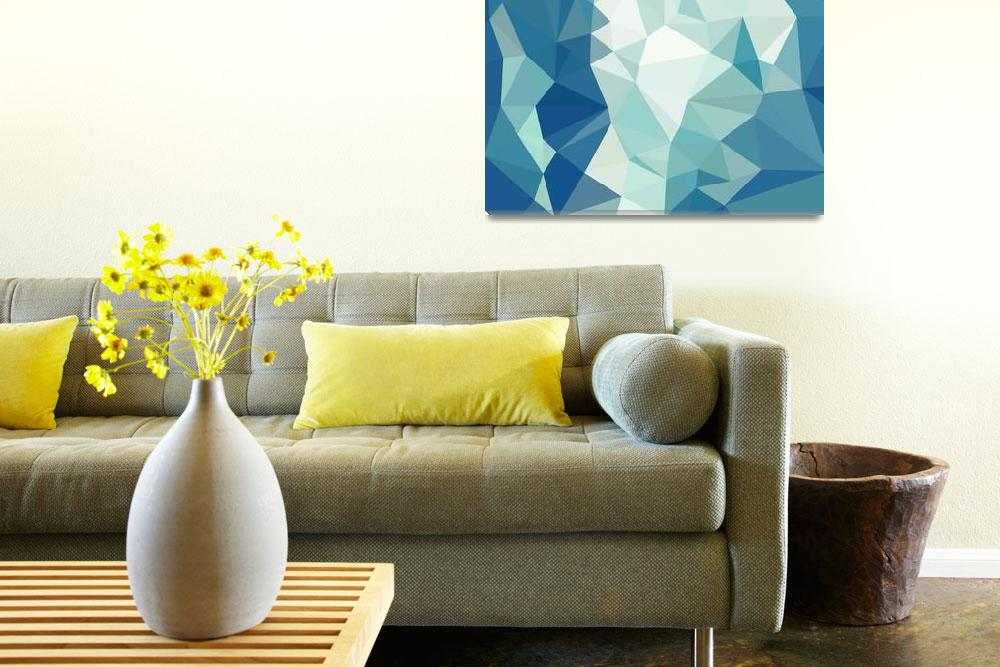 """""""Turquoise Green Abstract Low Polygon Background""""  (2015) by patrimonio"""