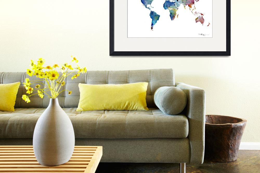 """""""World Map&quot  (2015) by k9artgallery"""