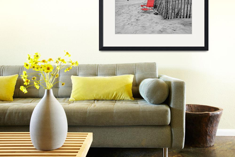 """""""Long Beach-13 with Red Chair&quot  (2010) by Ninas4otos"""