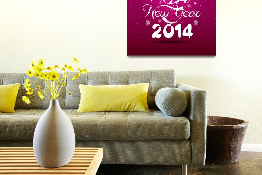 """happy new year lettering greeting card""  (2013) by ngocdai86"