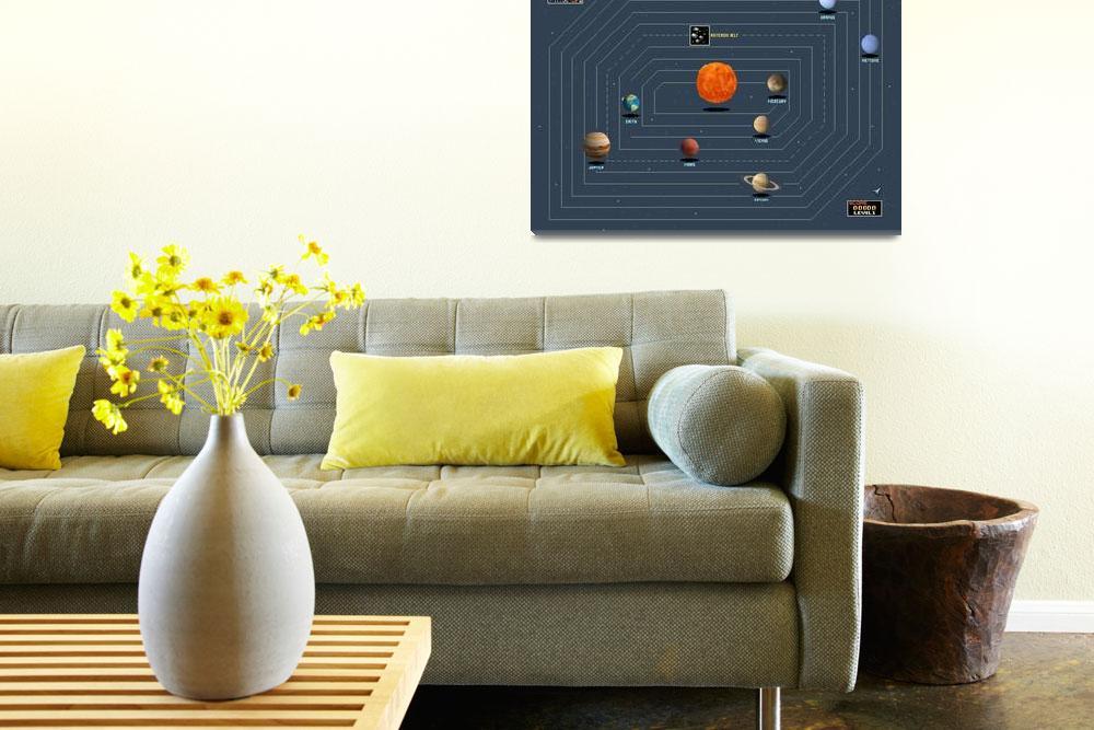 """16-bit Solar System Map&quot  (2016) by originaldave77"