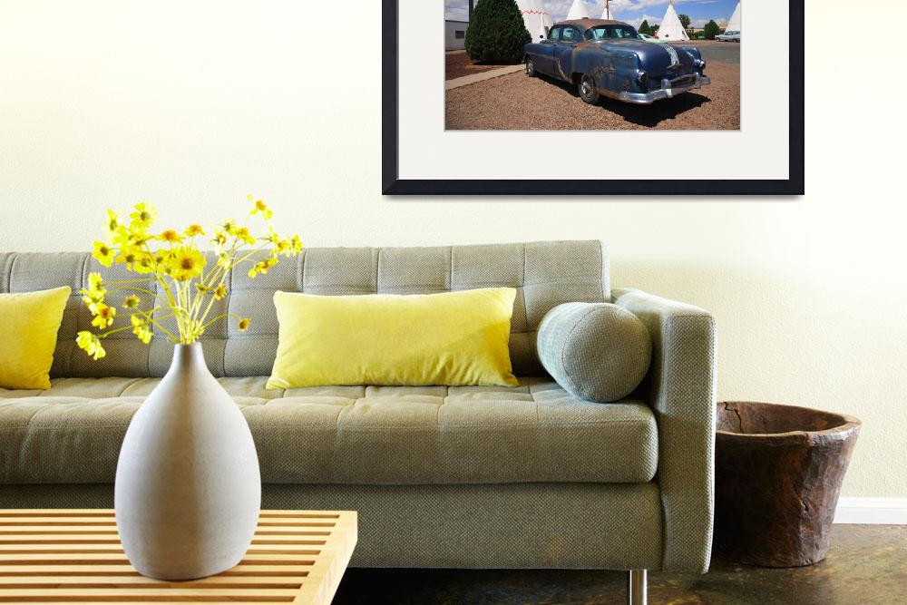 """""""Route 66 Wigwam Motel and Classic Car&quot  (2012) by Ffooter"""
