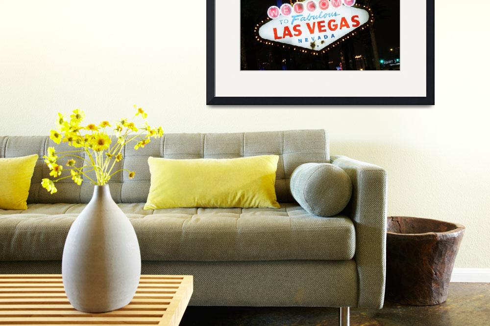 """""""Las Veags welcome sign&quot  by clarka"""