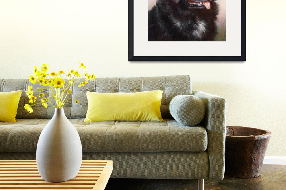 """Newfoundland Dog Portrait&quot  by Alleycatshirts"
