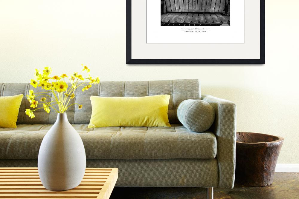 """""""Corning NY Bench&quot  by michaelvanname"""