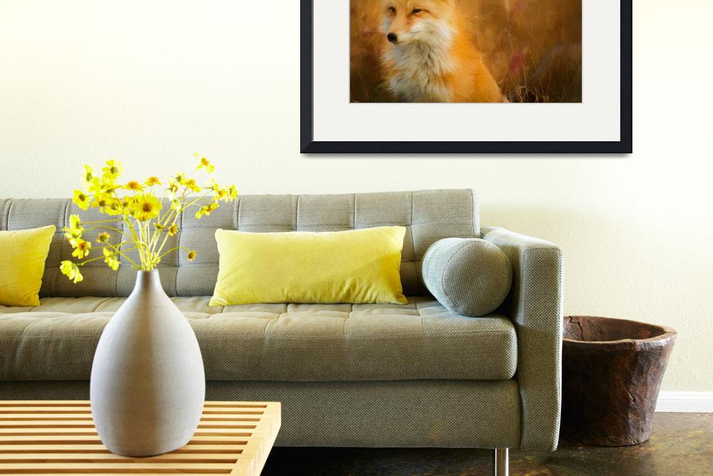 """""""Red Fox Wildlife Print&quot  (2016) by rogueart"""