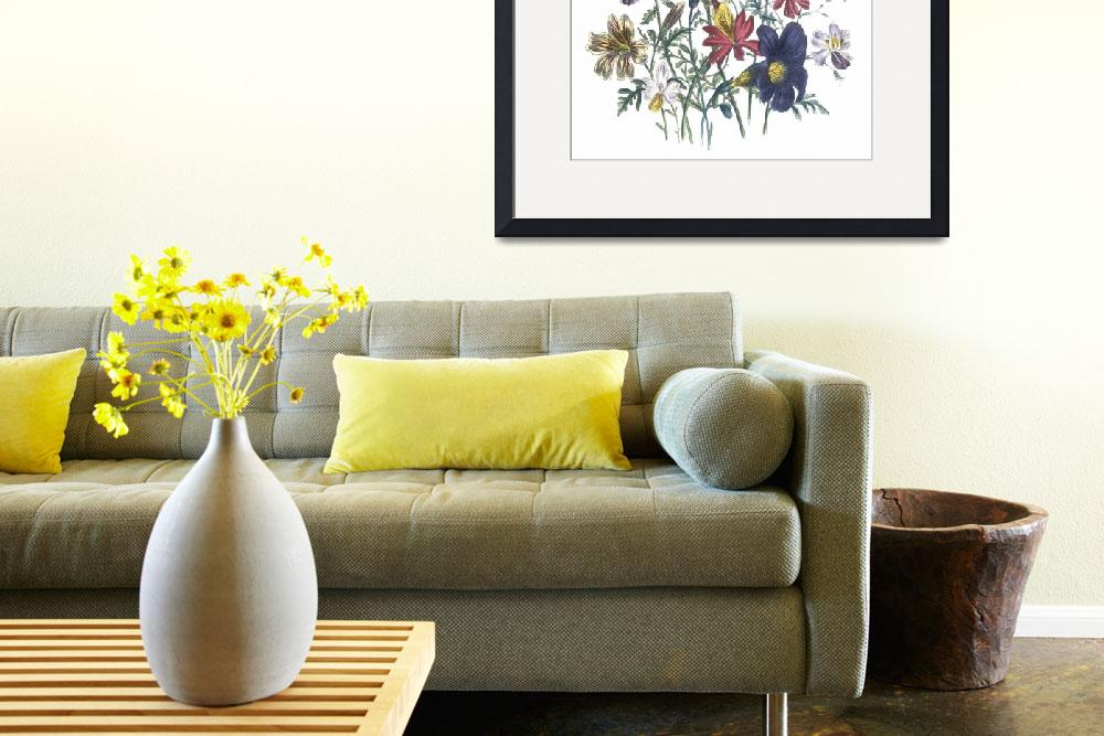 """""""Mixed Flowers by Jane Webb Loudon&quot  by ArtLoversOnline"""