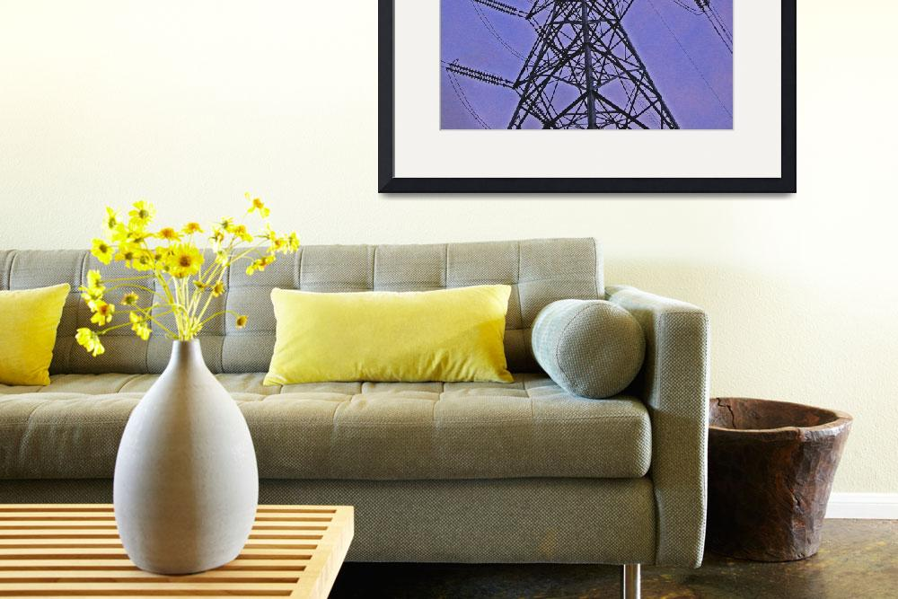 """""""Pylons, in the landscape. Colour photography.""""  (2005) by riclip"""