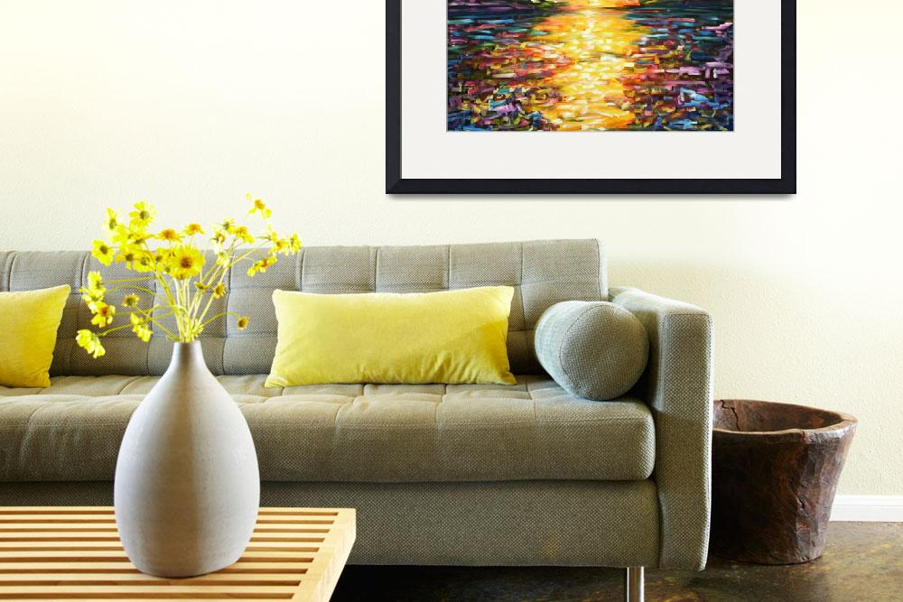"""""""Sunset Ocean Painting""""  by PeteCaswell"""