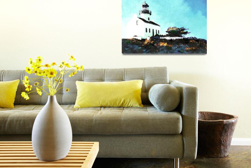 """Old Point Loma Light House by Riccoboni""  (2007) by RDRiccoboni"