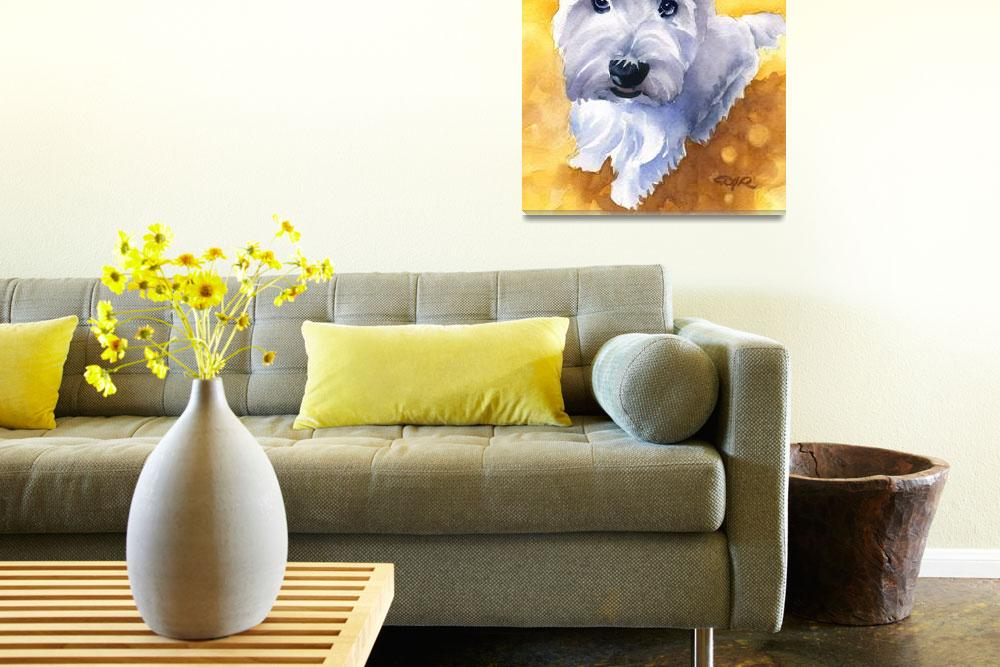 """""""West Highland Terrier 4&quot  (2015) by k9artgallery"""