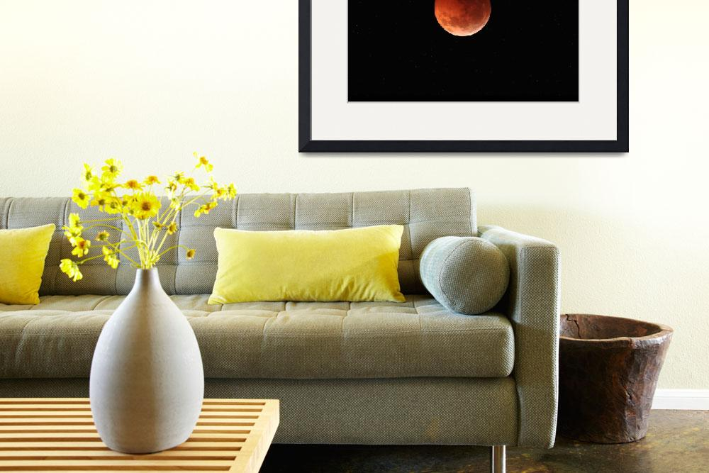 """""""The totality phase of a lunar eclipse during the 2&quot  by stocktrekimages"""