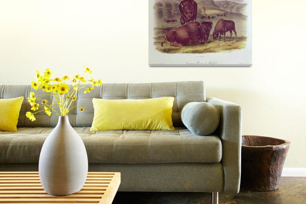 """""""American Bison or Buffalo by John James Audubon&quot  by fineartmasters"""